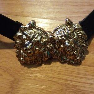 Forever 21 gold lion belt